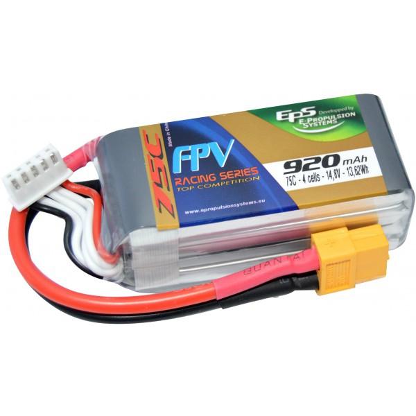 Batterie LiPo 920mAh 4S 75C (XT60) - EPS
