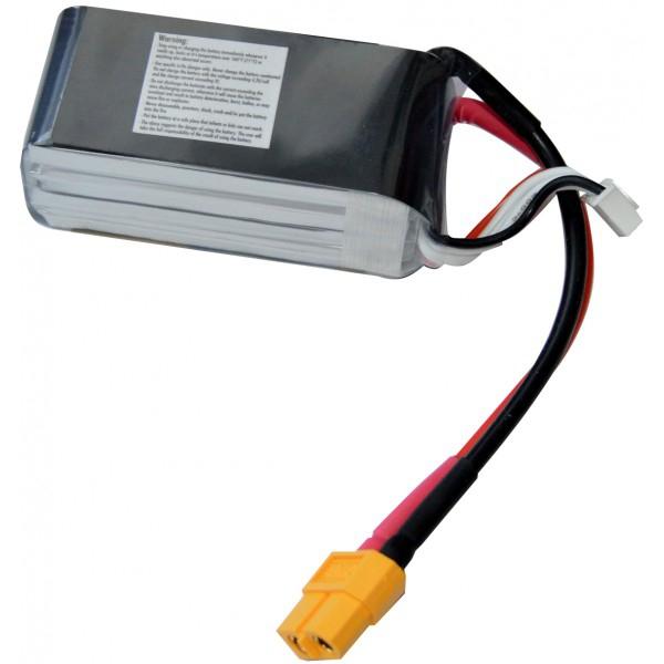 Batterie LiPo 920mAh 4S 75C (XT60) - EPS vue de dessous