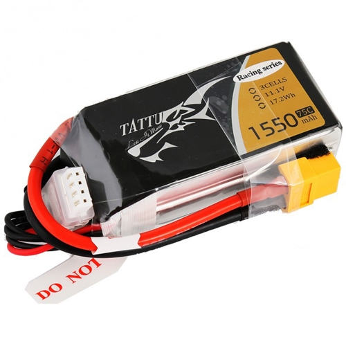 Batterie lipo haut rendement pour racers, drone racing, FPV racing, racer 250 class, classe 250...