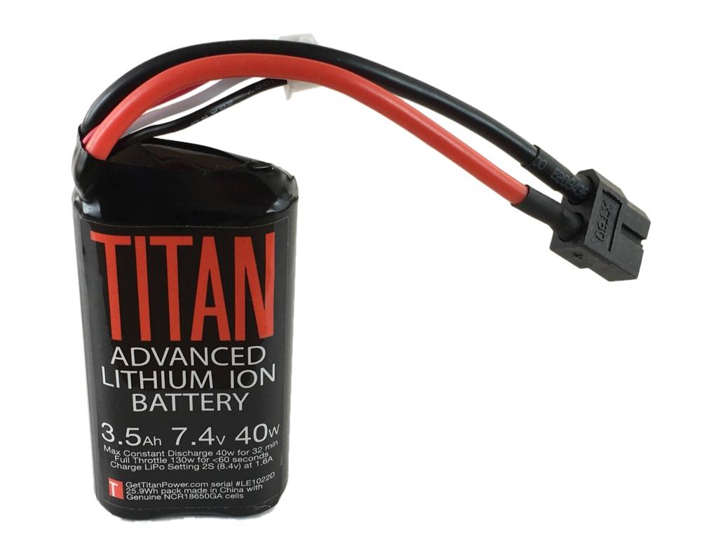 Batterie Lithium Ion 2S 3500 mAh 2C (XT60) - Titan