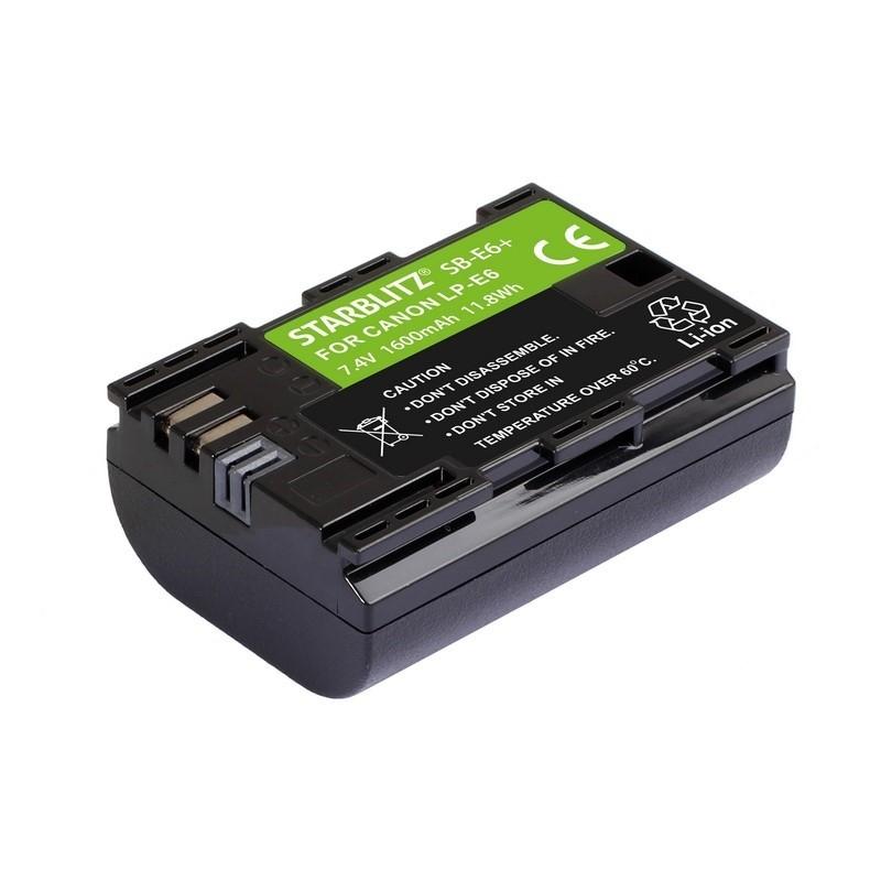 Batterie SB-E6+ compatible Canon LP-E6 - Starblitz