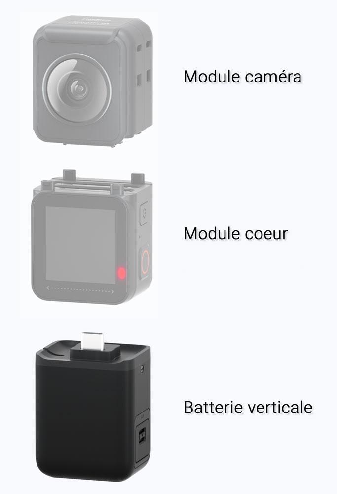 Batterie verticale pour Insta360 ONE R