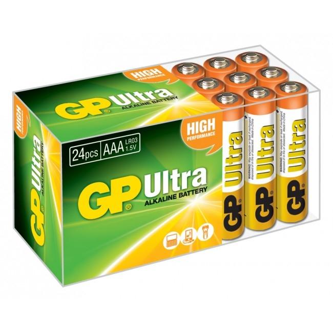 Boîte de 24 piles alcalines GP ULTRA AAA
