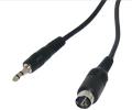 Câble PS2/Jack 3.5 mm pour lunette Fatshark
