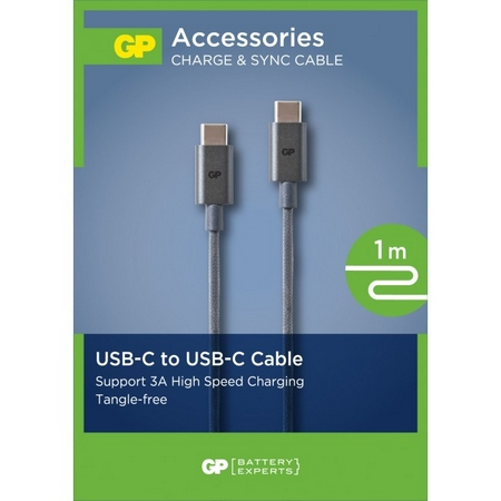 Câble USB type C to type C (1 m) - GP Batteries
