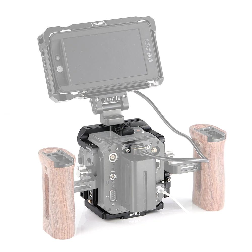 Double poignées avec écran sur cage pour caméra ZCAM E2 SmallRig