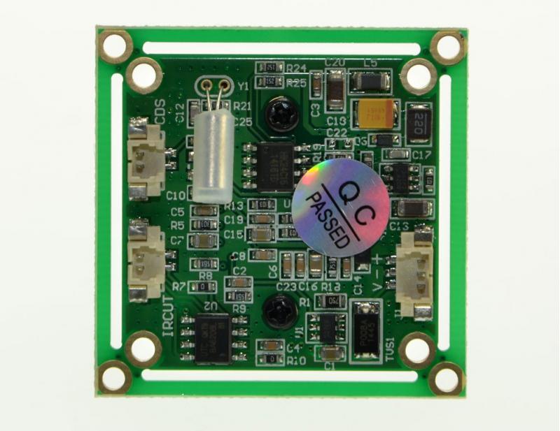 Caméra CMOS 800 lignes PAL 2.8mm - vue arrière