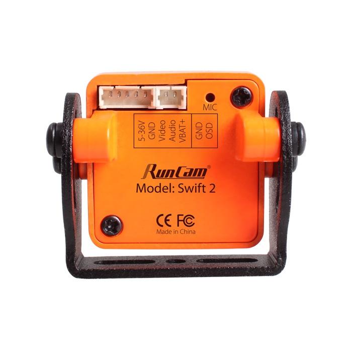 Caméra FPV RunCam Swift 2 - Orange vue de derrière