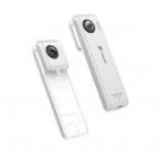 Caméra Insta360 Nano installée sur un iPhone - vue de dos et de face