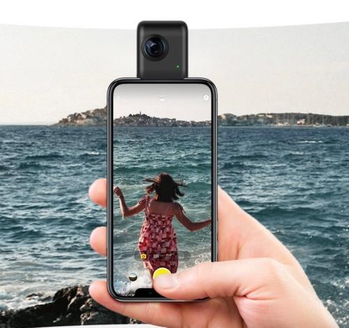 Caméra Insta360 Nano S - Version iPhone - rendu lors de l'utilisation