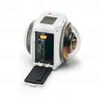 Caméra Kodak Pixpro Orbit 360 4K Adventure Pack avec compartiment batterie ouvert