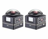 2 caméras Kodak SP360 4K du pack Dual Pro Pack