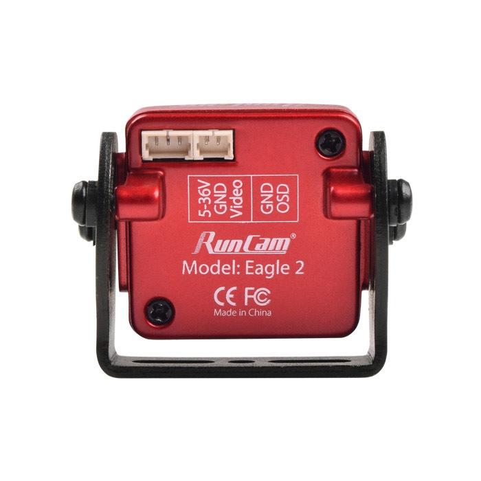 Caméra RunCam Eagle 2 vue de derrière avec ses connecteurs