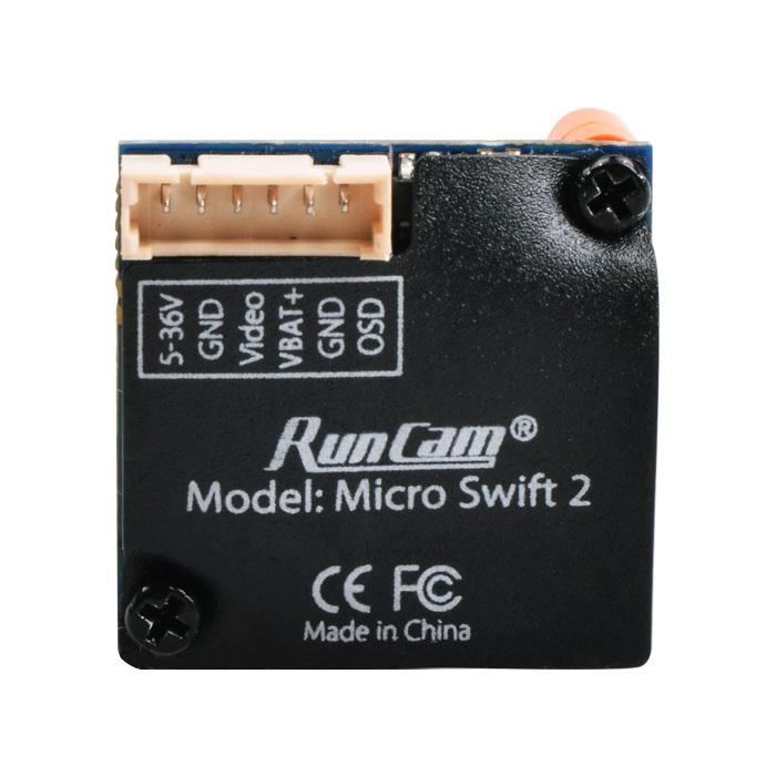 Caméra RunCam Micro Swift 2 - vue arrière