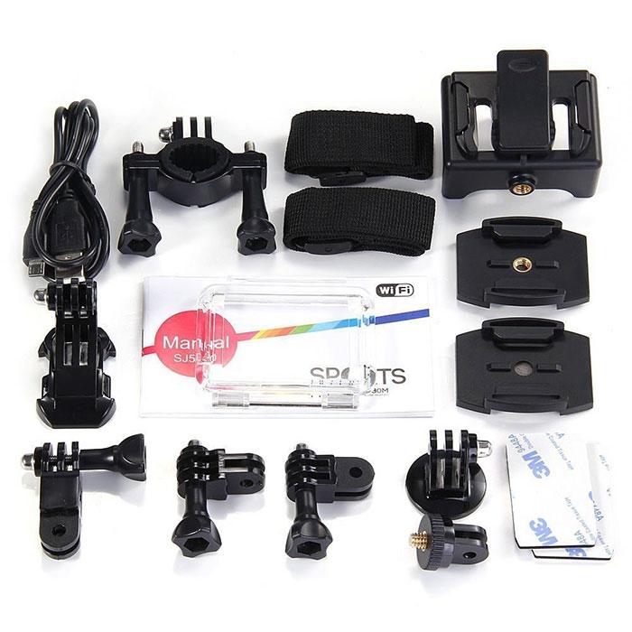 Ensemble des accessoires de la caméra SJCAM SJ5000 WiFi