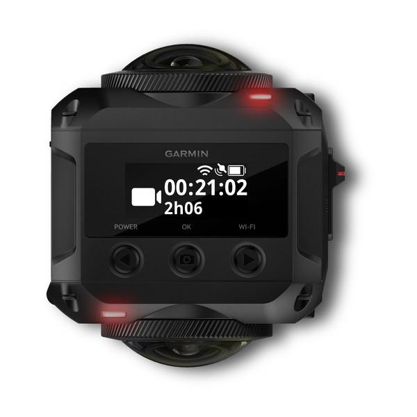 Caméra VIRB 360 Garmin vue de haut