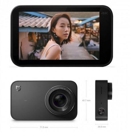 Caméra Xiaomi Mijia Compact 4K de face et de biais