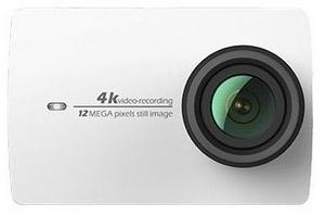 Caméra Xiaomi Yi 4K vue de face caméra blanche
