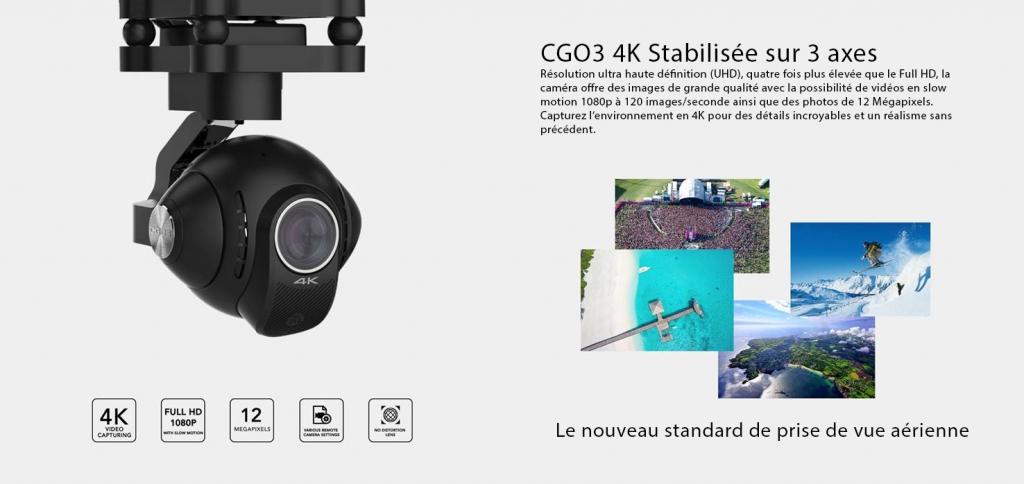 caméra Yuneec CGO3 4K