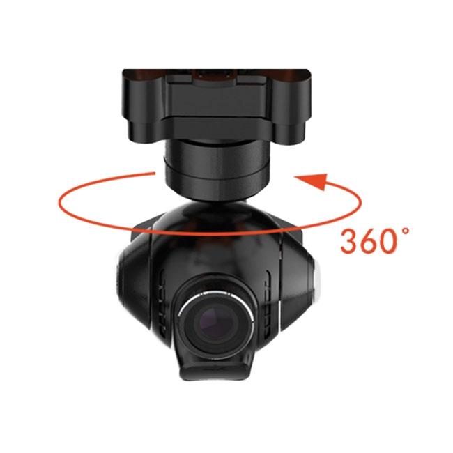 La caméra Yuneec E50 offre une rotation à 360° pour une utilisation double-opérateurs