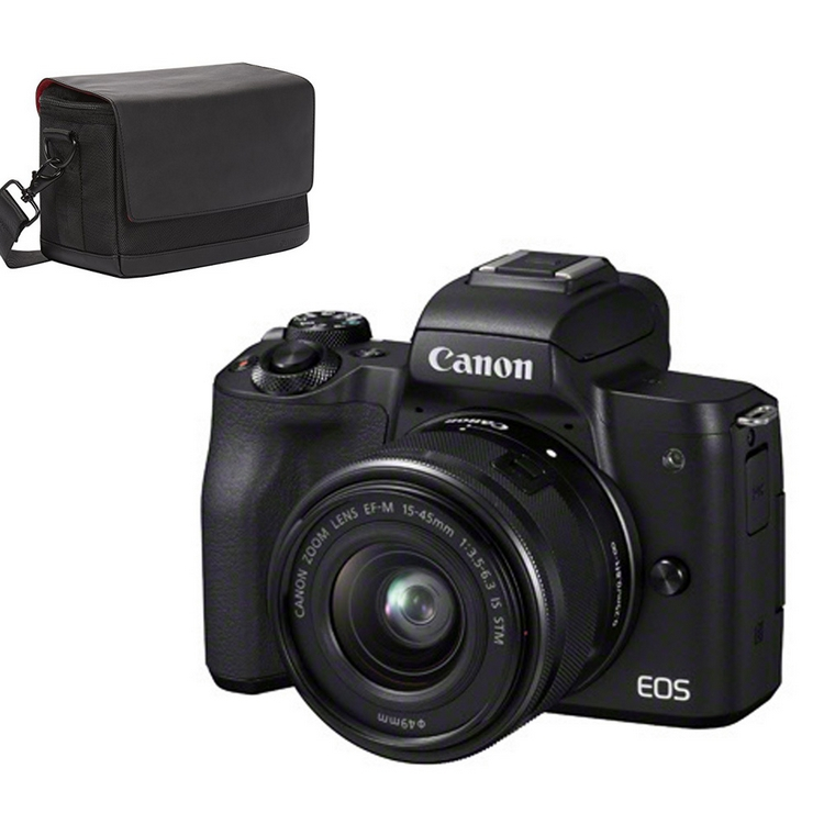 Canon EOS M50 + objectif 15-45 mm + Sac