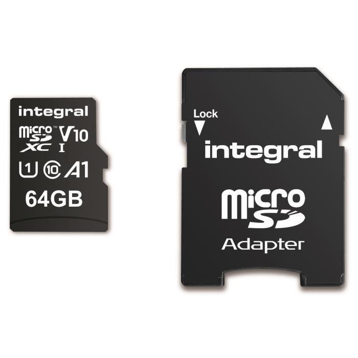 Carte mémoire microSDHC/XC V10 UHS-I U1 64 Go - SanDisk