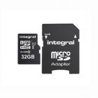 Carte micro SDHC U1 V10 UHS1 32Go - Integral