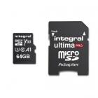 Carte microSDHC/XC UltimaPro U3 V30 64 Go