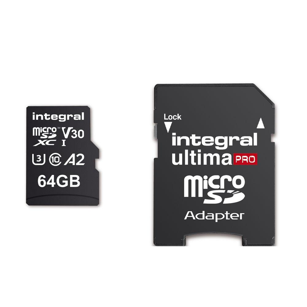 Carte microSDXC 64Go ultima PRO UHS-I V30 U3 - Integral