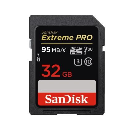 CARTE SDHC EXT.PRO 32GB 95MB