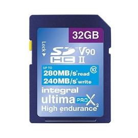 Carte SDXC Ultimapro X2 32 Go UHS-II V90 - Integral