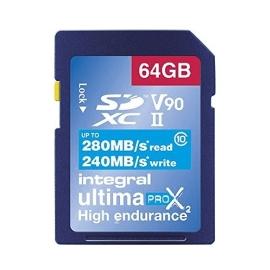 Carte SDXC Ultimapro X2 64 Go UHS-II V90 - Integral
