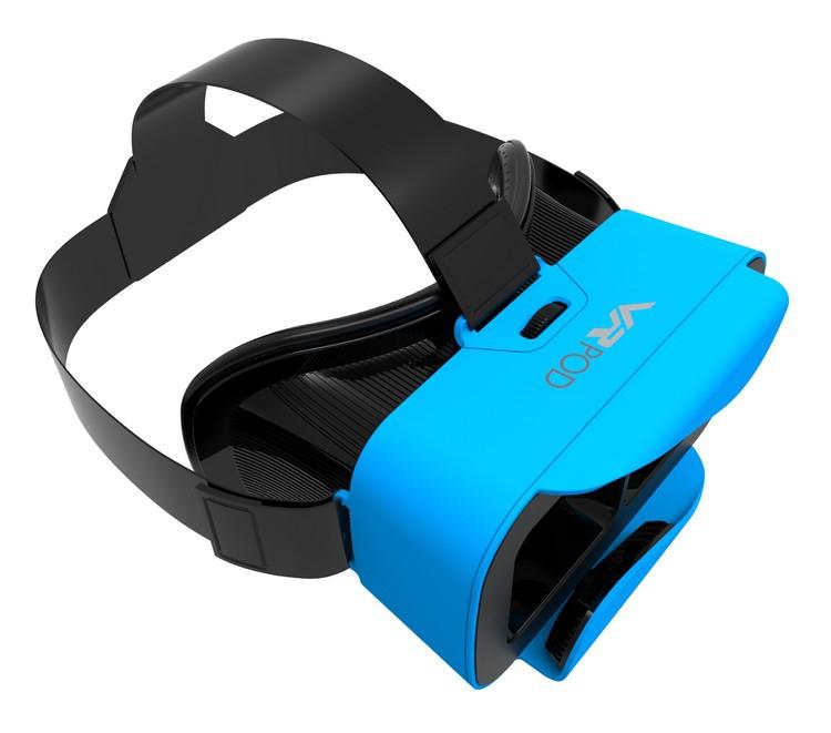 Casque de réalité virtuelle VRPOD bleu - vue de côté