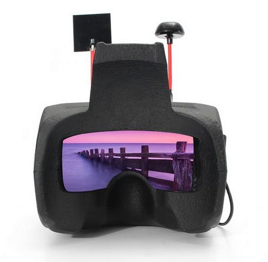 Vue de l'écran du casque FPV Eachine Goggles Two