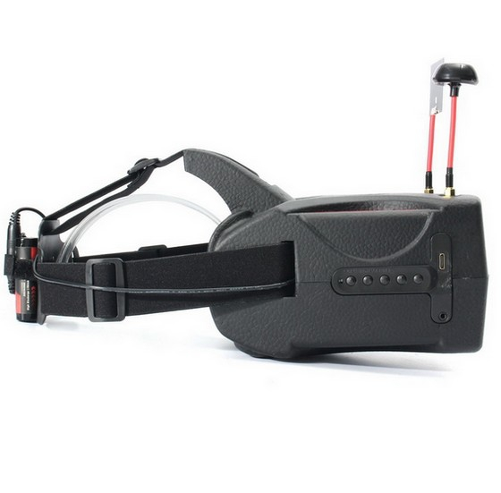 Casque FPV Eachine Goggles Two - vue latérale