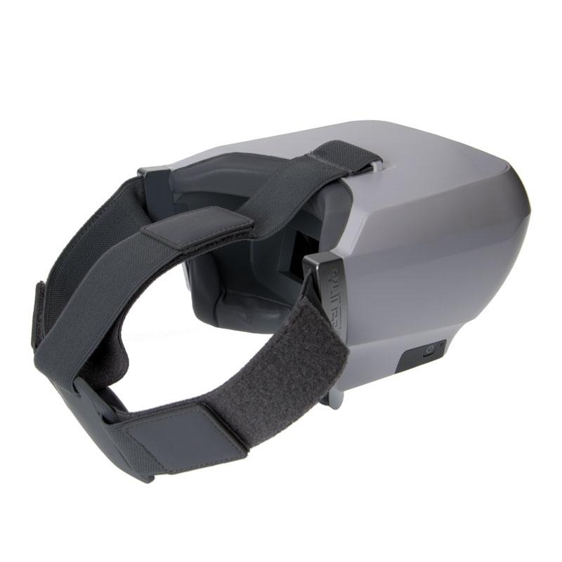 Le casque FPV Yuneec Skyview dispose d'un bouton d'allumage discret