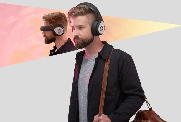 Casque Glyph porté en mode audio