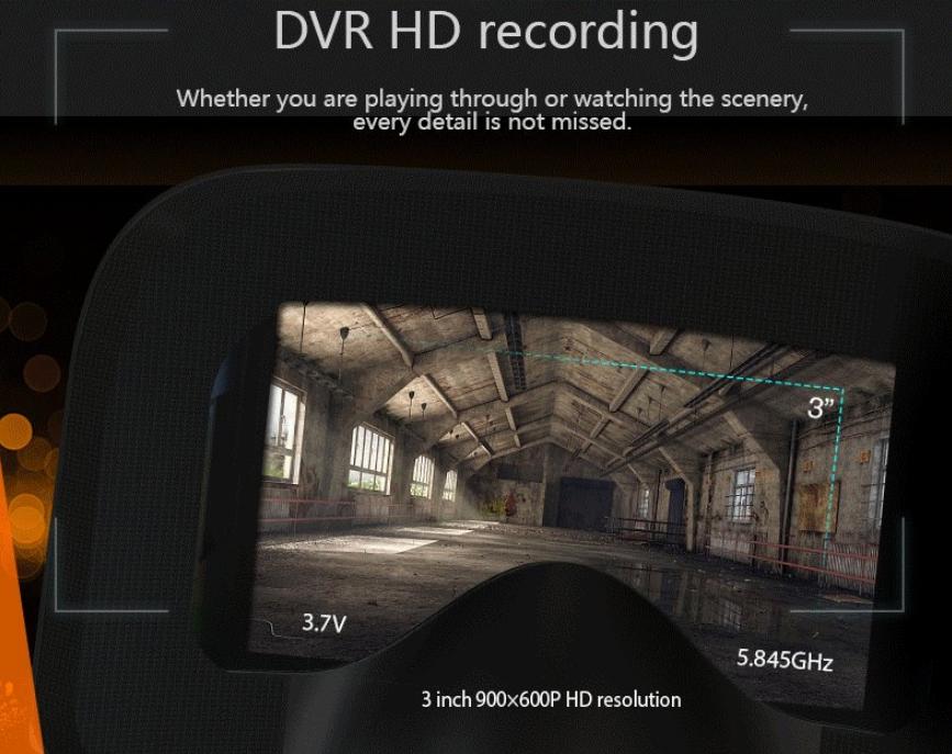 Casque VR D3 5.8GHz 40Ch diversifié