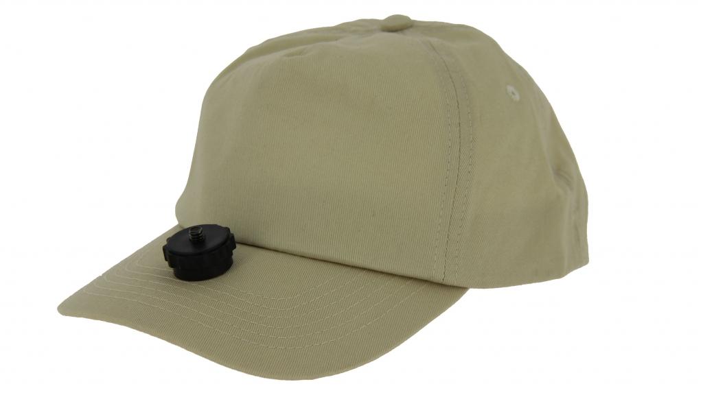 Casquette Vidéo-Cap beige pour caméra embarquée