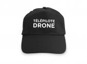 Casquette noire Télépilote Drone