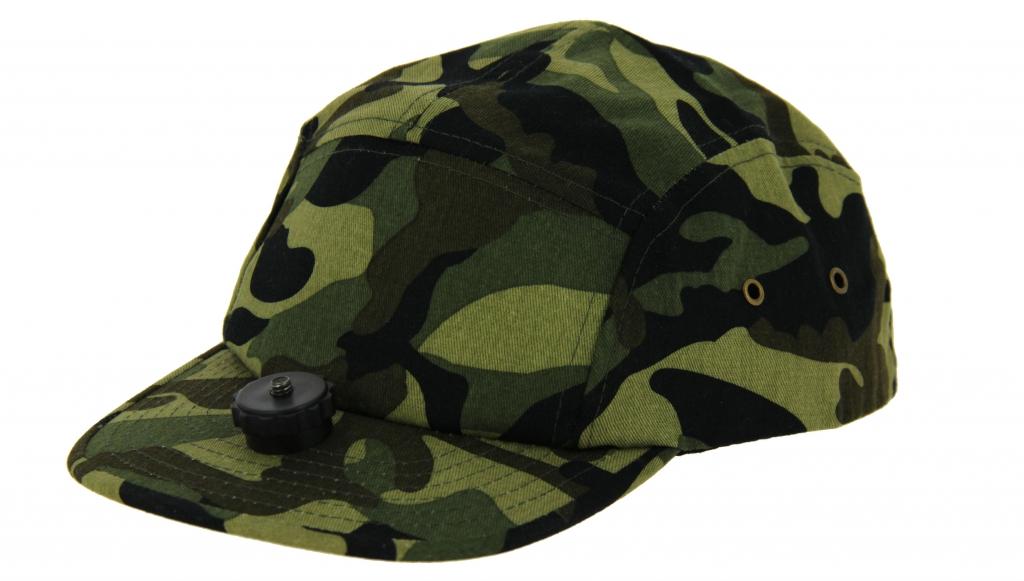 casquette chasse vidéo cap camouflage pour caméra embarquée