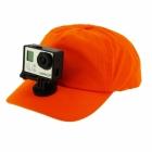 Casquette vidéo cap orange chasse pour gopro