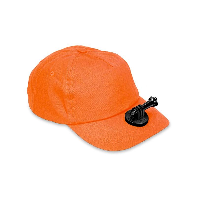 Casquette chasse Vidéo-cap Orange pour gopro