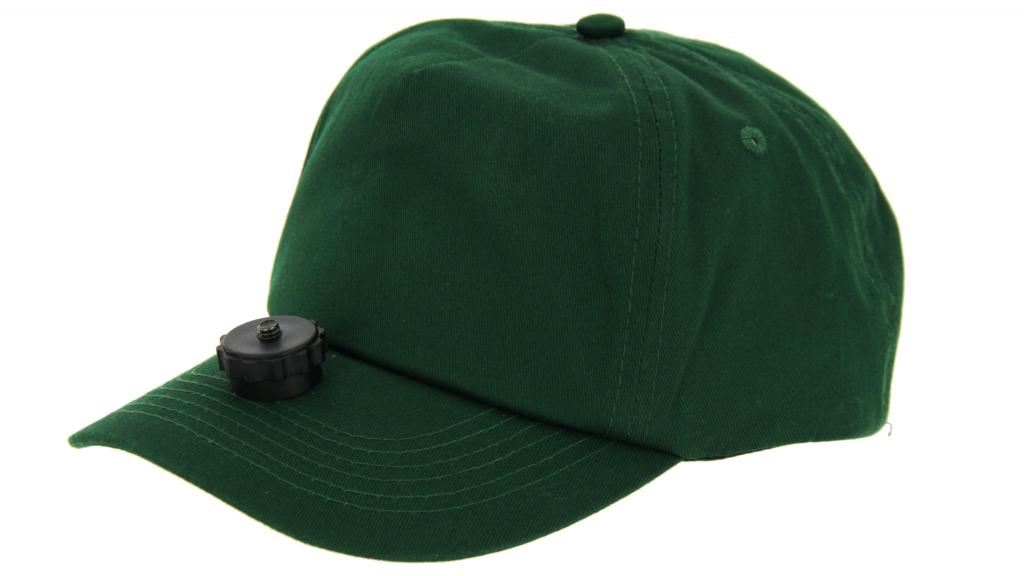 Casquette vidéo-cap verte pour camera embarquée