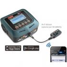 Ce chargeur se contrôle aussi à distance grâce à votre smartphone et l\'application Charger Master disponible gratuitement sur le site de SKYRC.