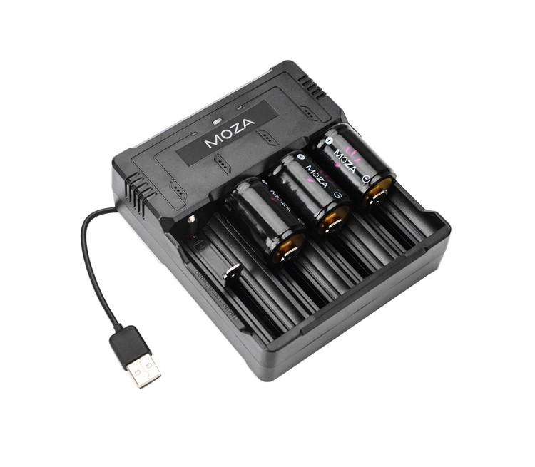 Chargeur de batteries Moza Gudsen avec 3 batteries