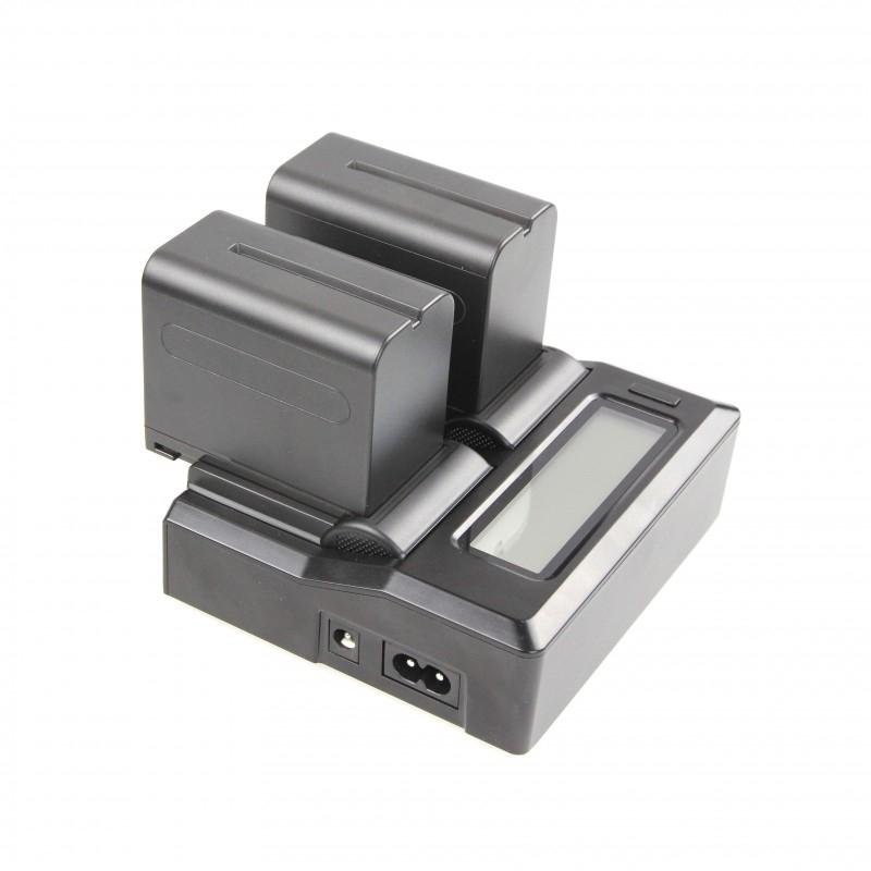 Chargeur double universel de batteries pour la vidéo - Starblitz