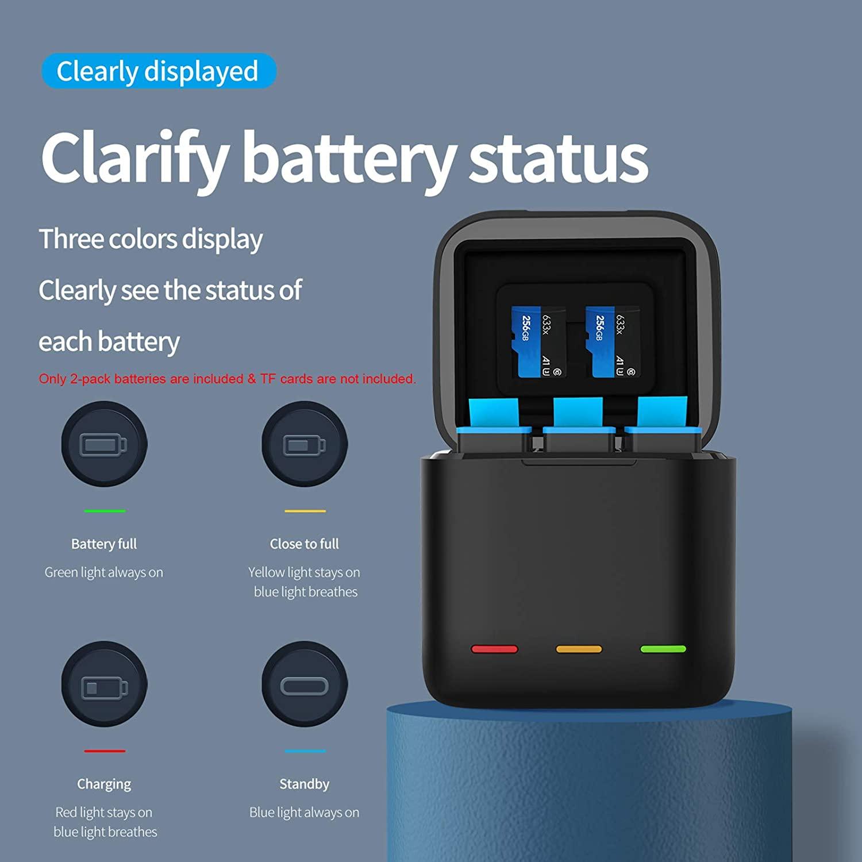 Chargeur et double batterie pour GoPro Hero9 - Telesin