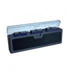 Le chargeur triple permet de charger jusqu'à 3 batteries simultanément en moins de 2 heures