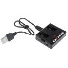 Chargeur USB 2en1 pour batteries Hubsan H107C+ et H107D+